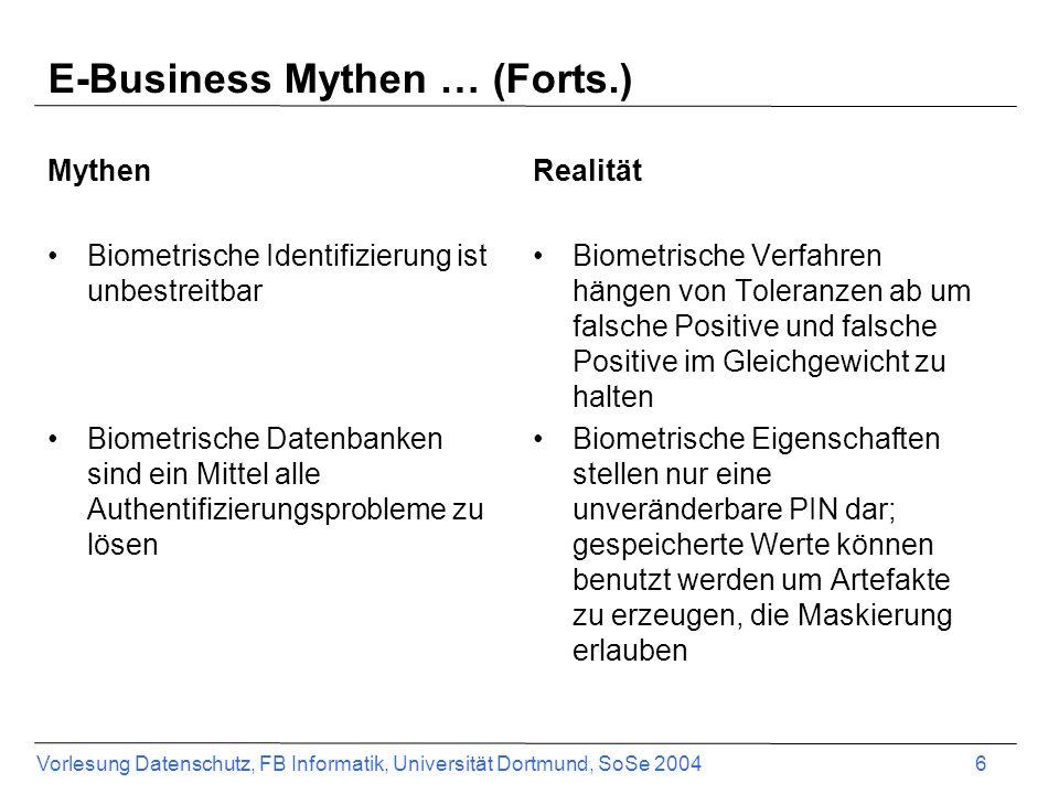 E-Business Mythen … (Forts.)
