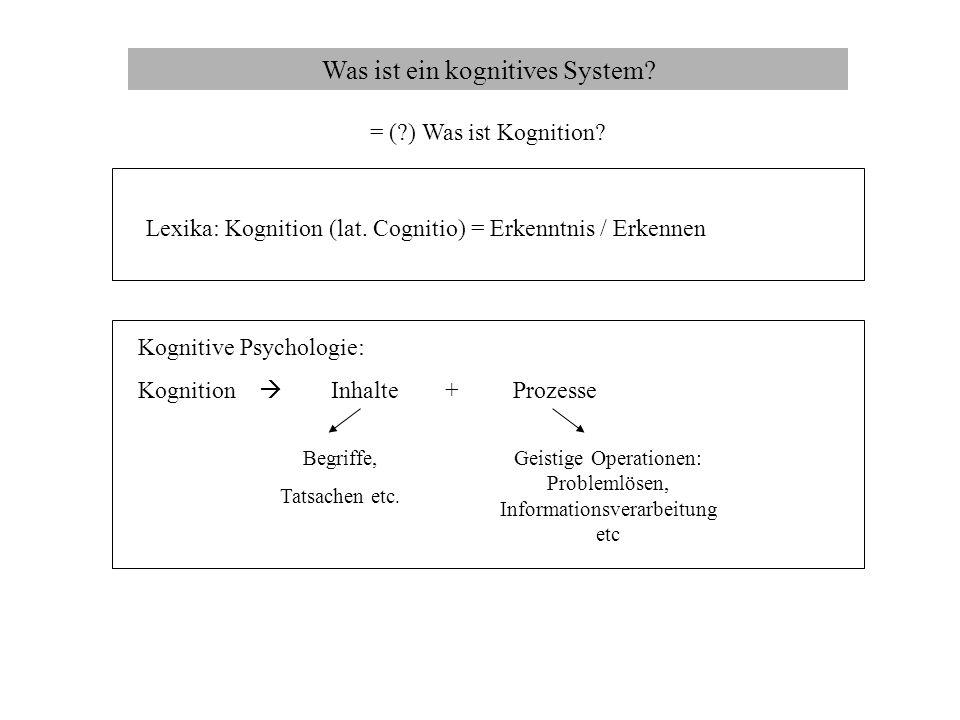 Was ist ein kognitives System