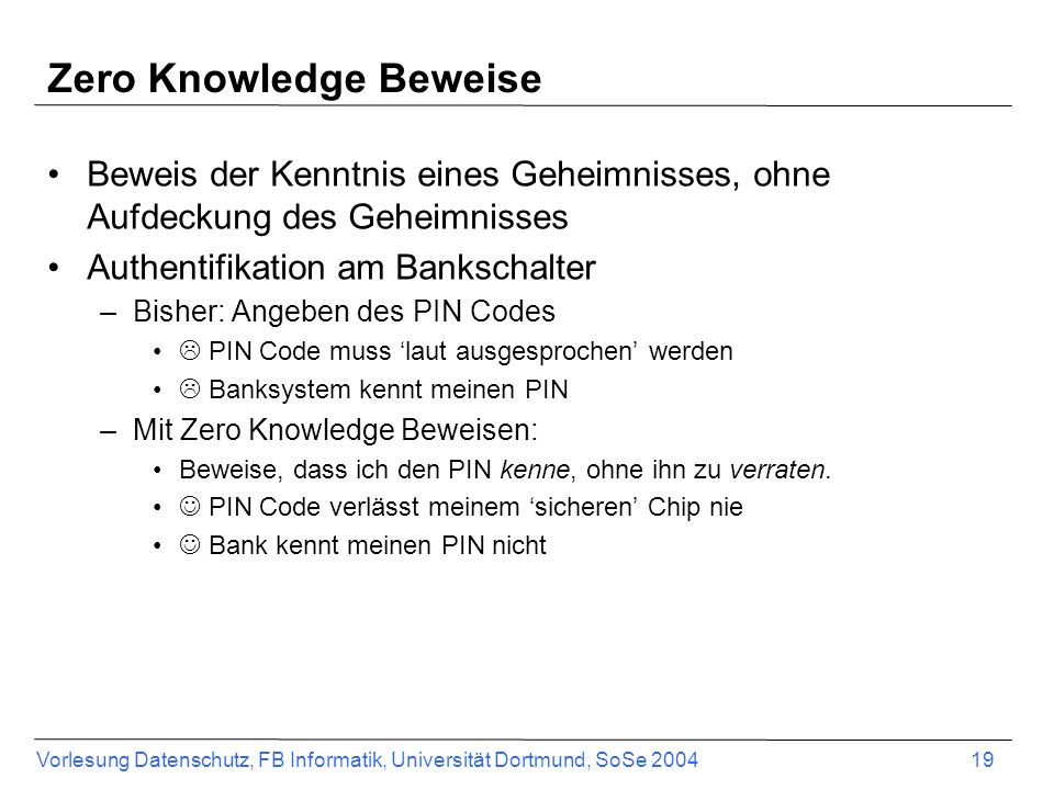 Zero Knowledge Beweise