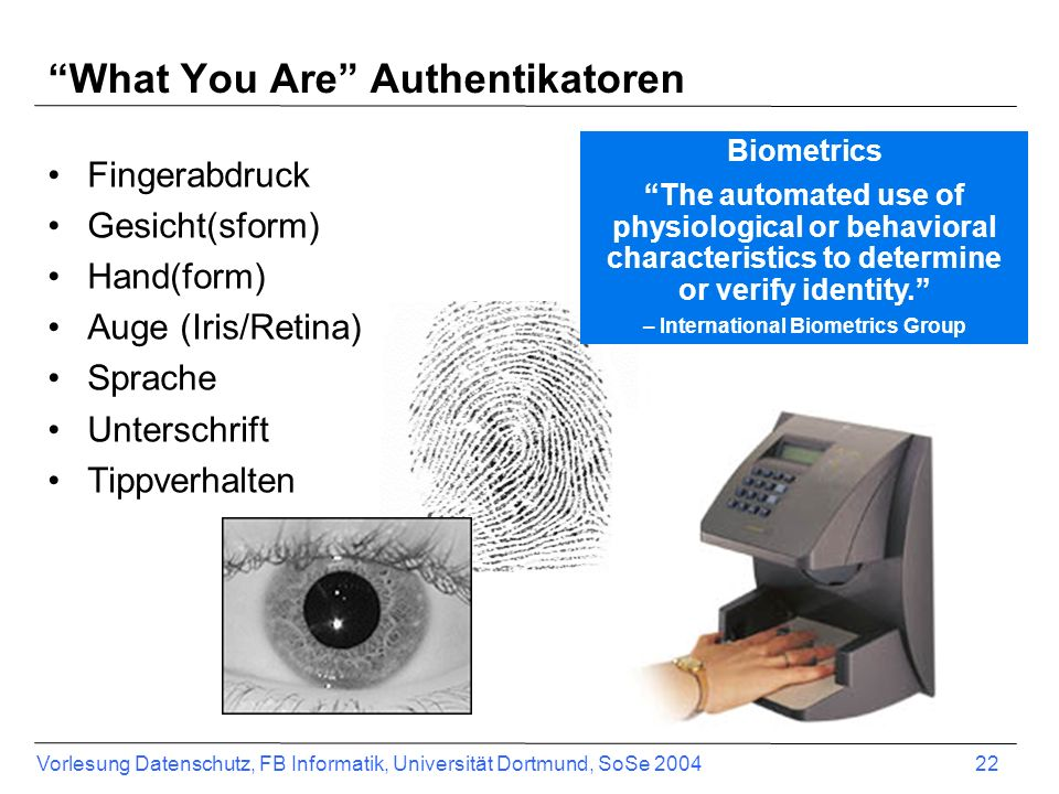 What You Are Authentikatoren