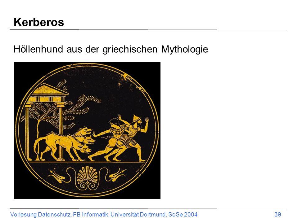 Kerberos Höllenhund aus der griechischen Mythologie