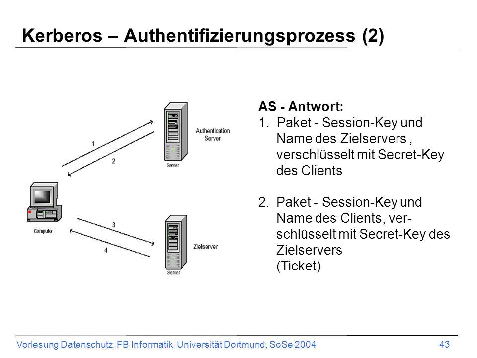 Kerberos – Authentifizierungsprozess (2)