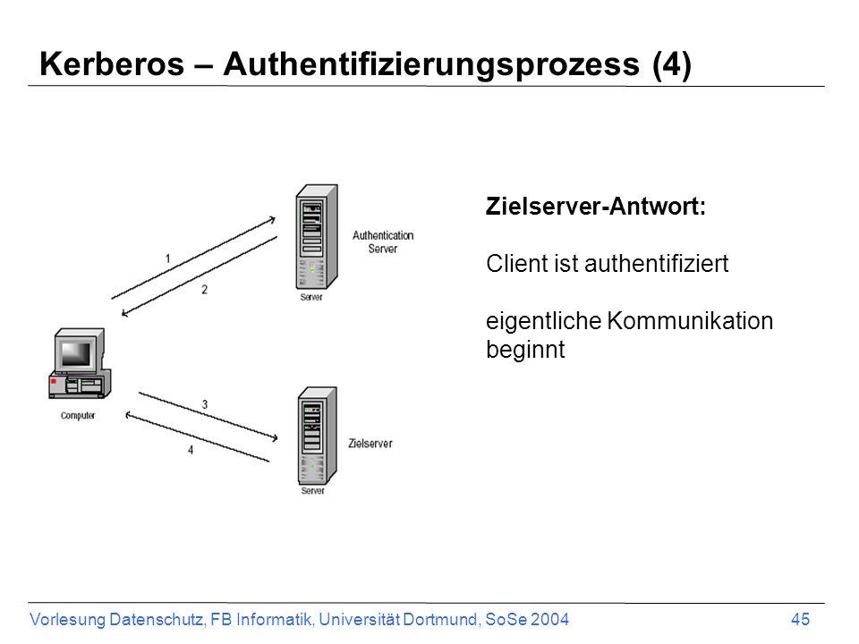 Kerberos – Authentifizierungsprozess (4)
