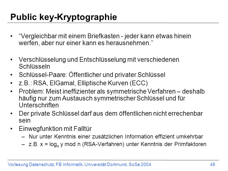 Public key-Kryptographie