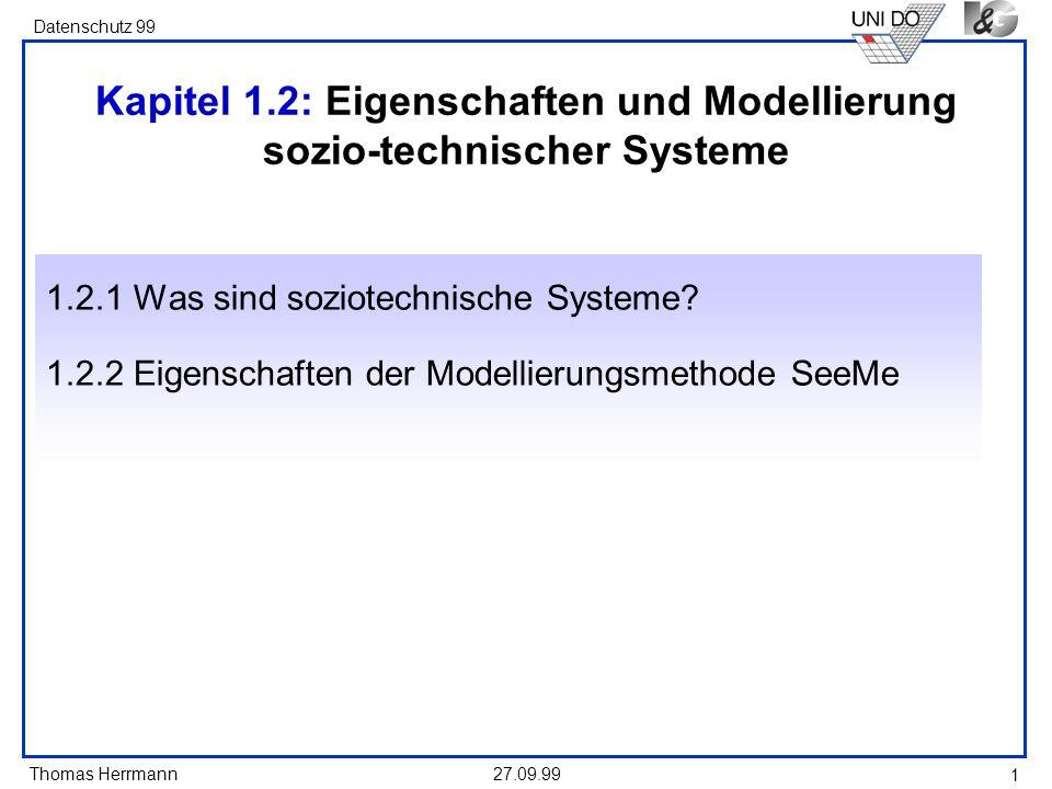 Kapitel 1.2: Eigenschaften und Modellierung sozio-technischer Systeme