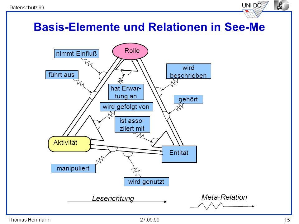 Basis-Elemente und Relationen in See-Me