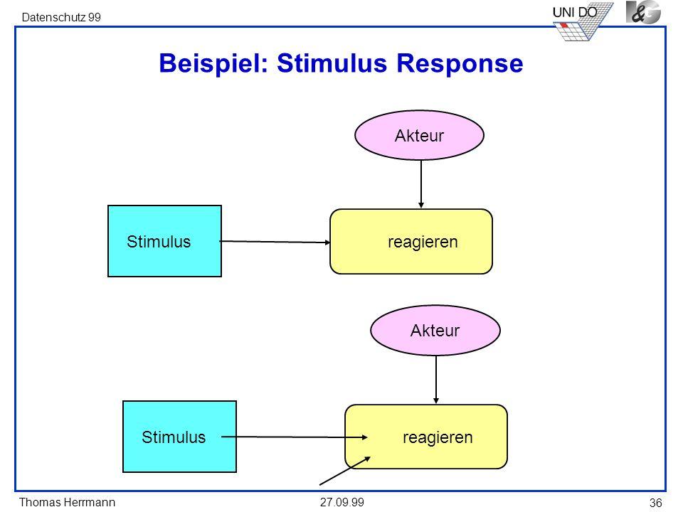 Beispiel: Stimulus Response