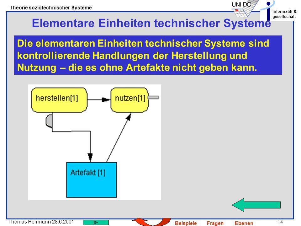 Elementare Einheiten technischer Systeme