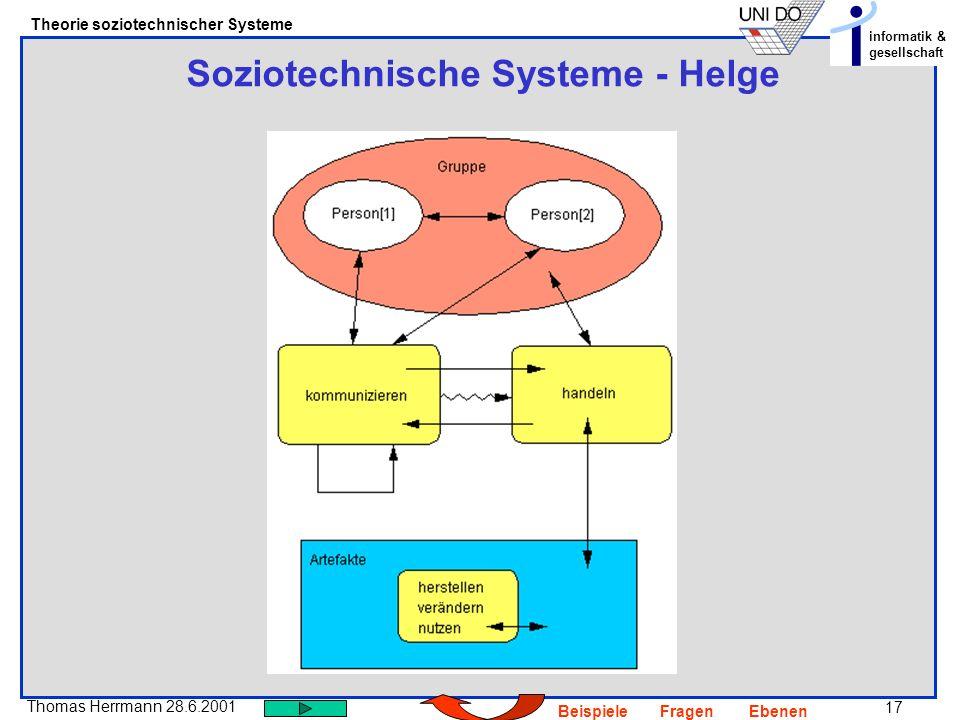 Soziotechnische Systeme - Helge