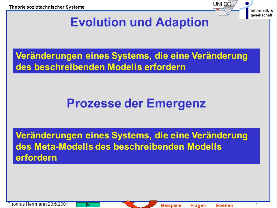 Evolution und Adaption