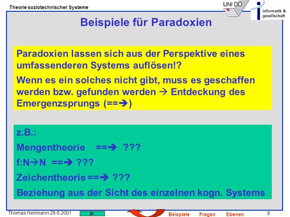 Beispiele für Paradoxien