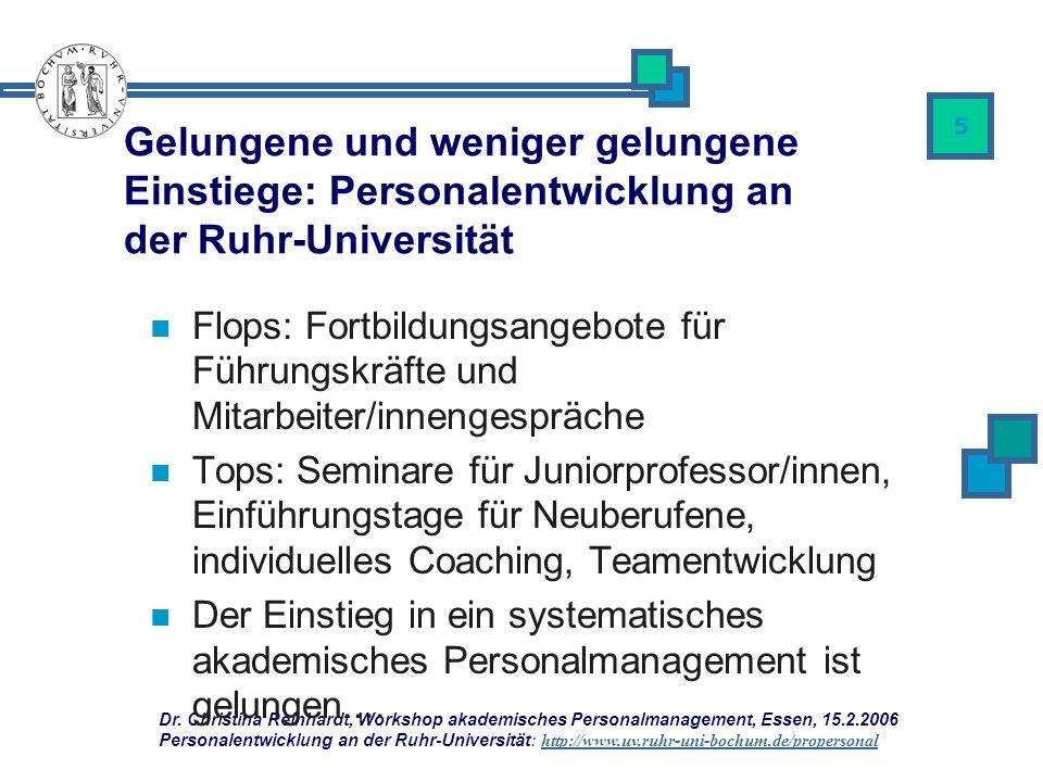Gelungene und weniger gelungene Einstiege: Personalentwicklung an der Ruhr-Universität