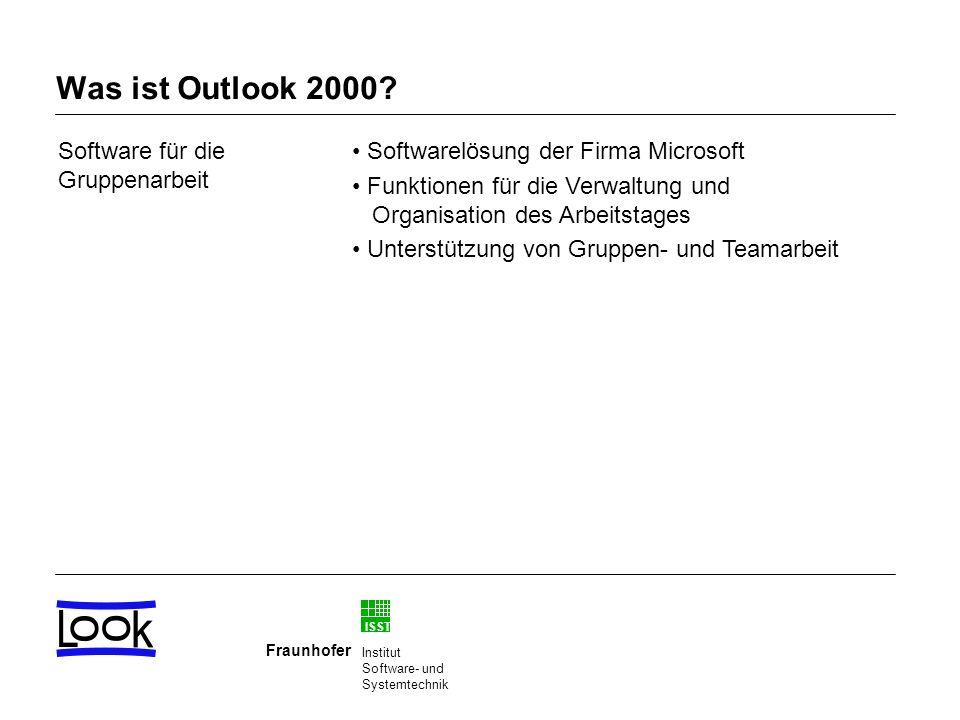 Was ist Outlook 2000 Software für die Gruppenarbeit
