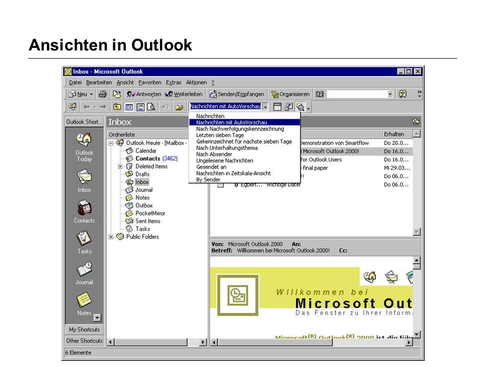 Ansichten in Outlook