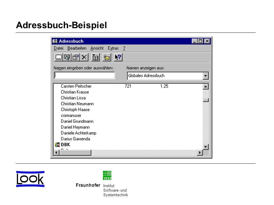 Adressbuch-Beispiel