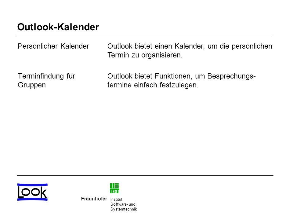 Outlook-Kalender Persönlicher Kalender Terminfindung für Gruppen