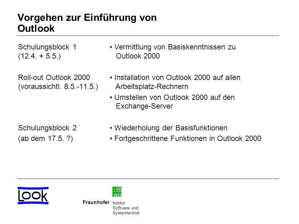 Vorgehen zur Einführung von Outlook