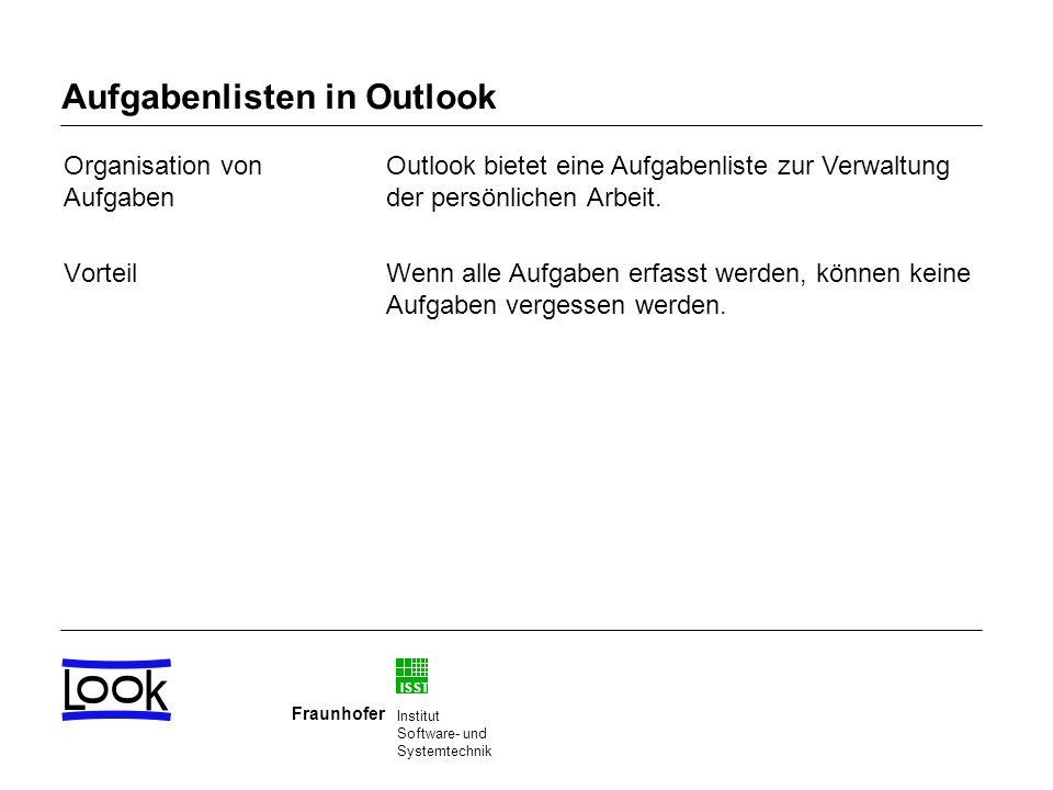 Aufgabenlisten in Outlook
