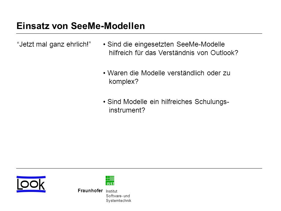 Einsatz von SeeMe-Modellen