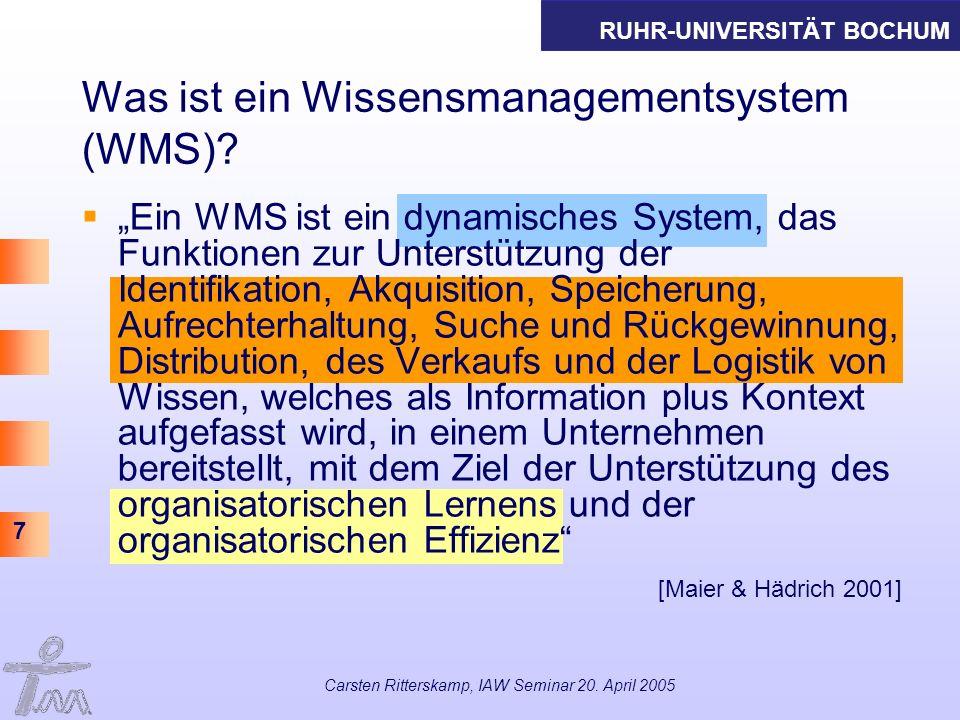 Was ist ein Wissensmanagementsystem (WMS)