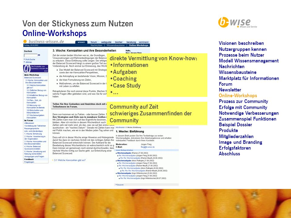 Von der Stickyness zum Nutzen Online-Workshops