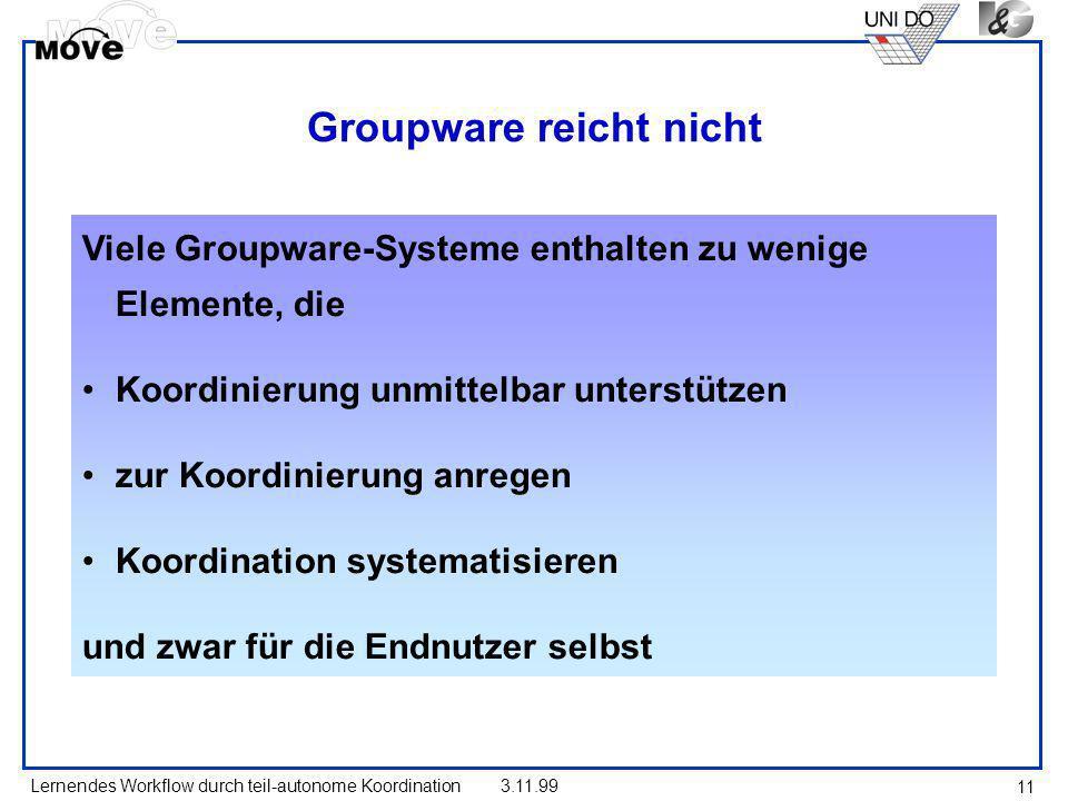 Groupware reicht nicht