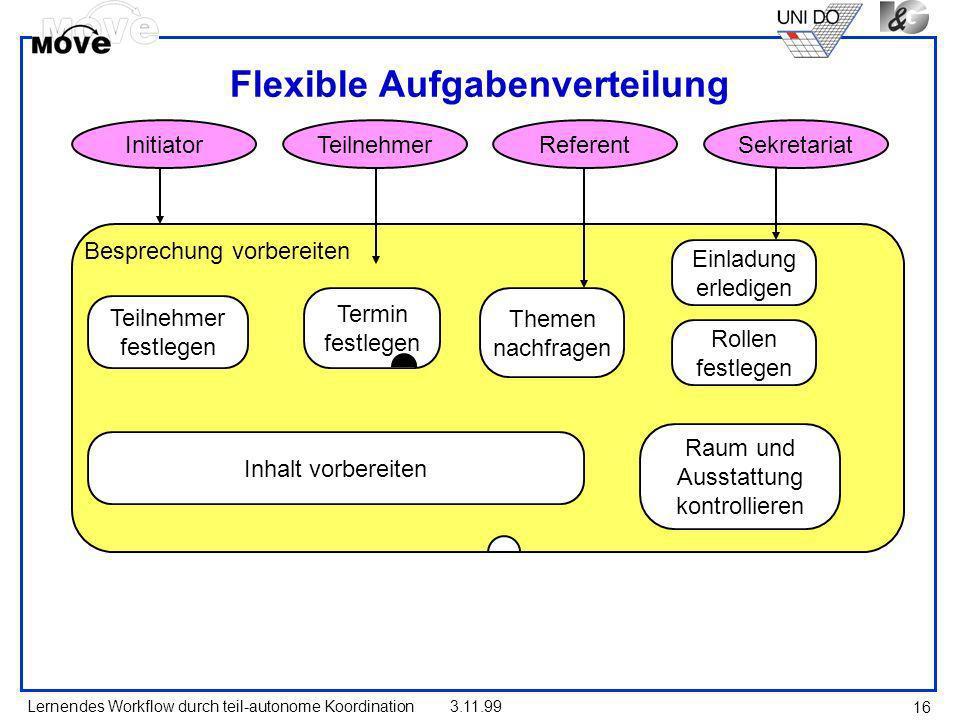 Flexible Aufgabenverteilung