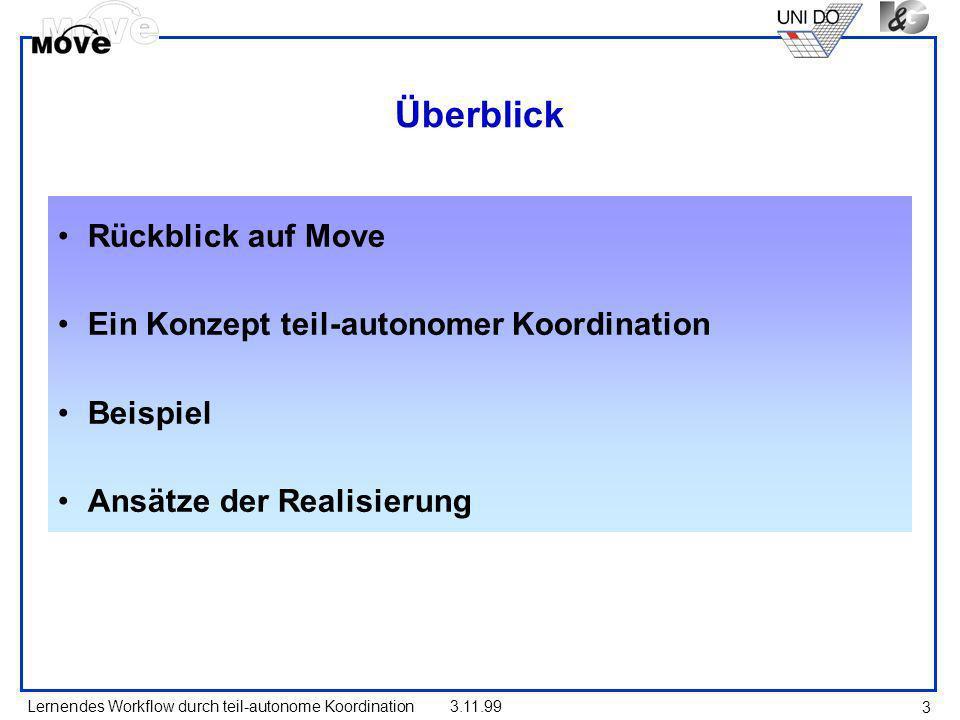 Überblick Rückblick auf Move Ein Konzept teil-autonomer Koordination