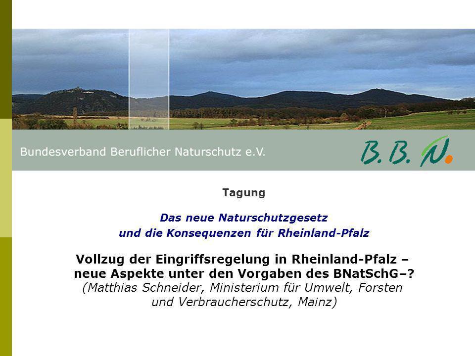 Vollzug der Eingriffsregelung in Rheinland-Pfalz –