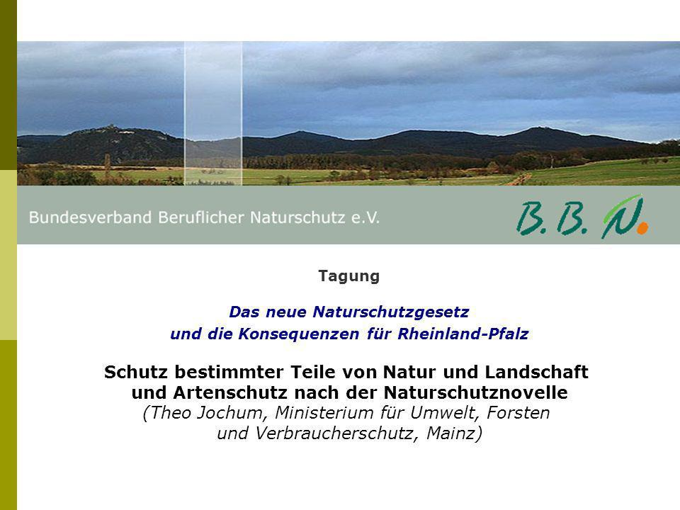 Schutz bestimmter Teile von Natur und Landschaft