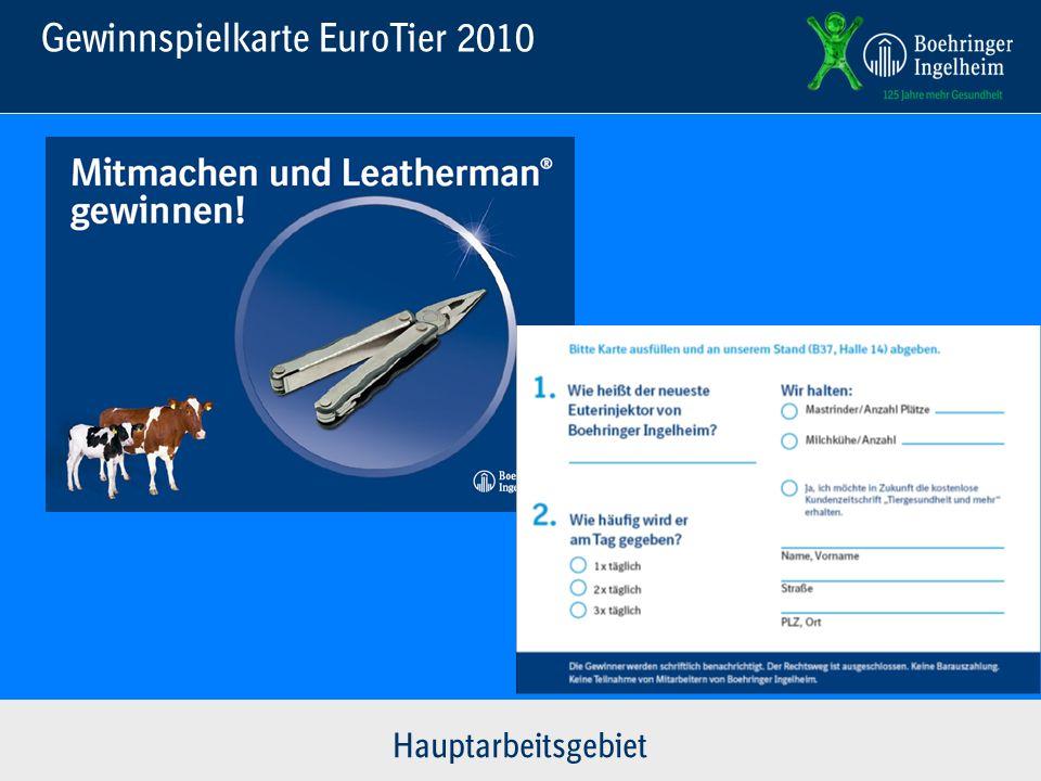 Gewinnspielkarte EuroTier 2010