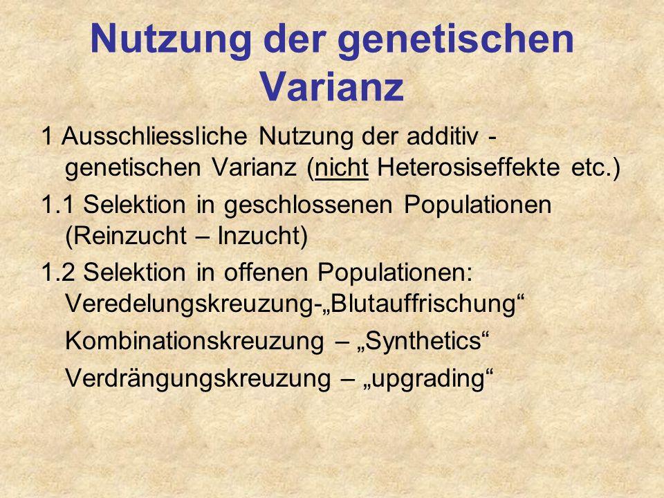 Nutzung der genetischen Varianz