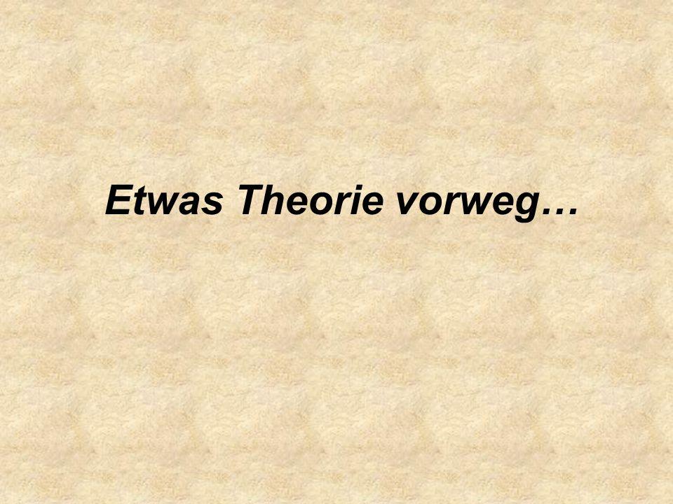 Etwas Theorie vorweg…