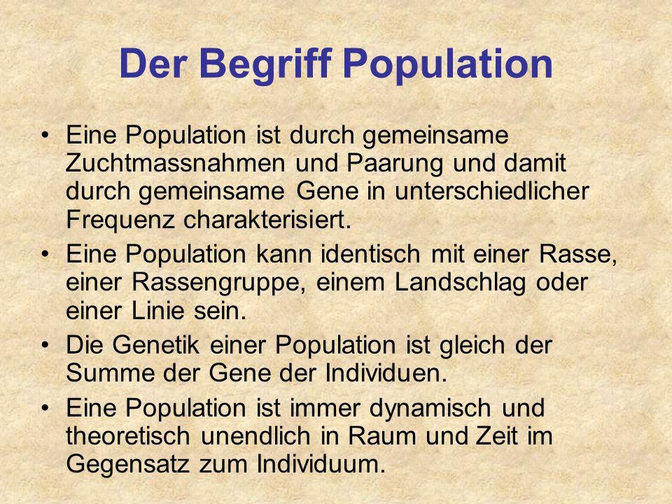 Der Begriff Population