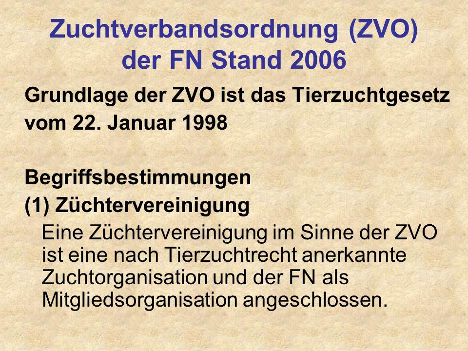Zuchtverbandsordnung (ZVO) der FN Stand 2006