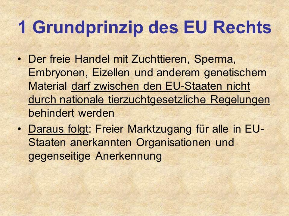 1 Grundprinzip des EU Rechts