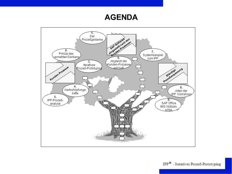 AGENDA 1 1. Der Prozeßgedanke 2. Prinzip des 7. vernetzten Denkens