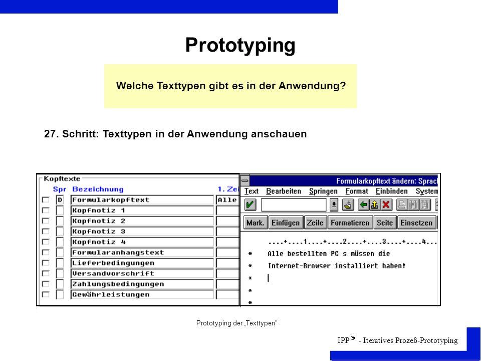 Prototyping Welche Texttypen gibt es in der Anwendung