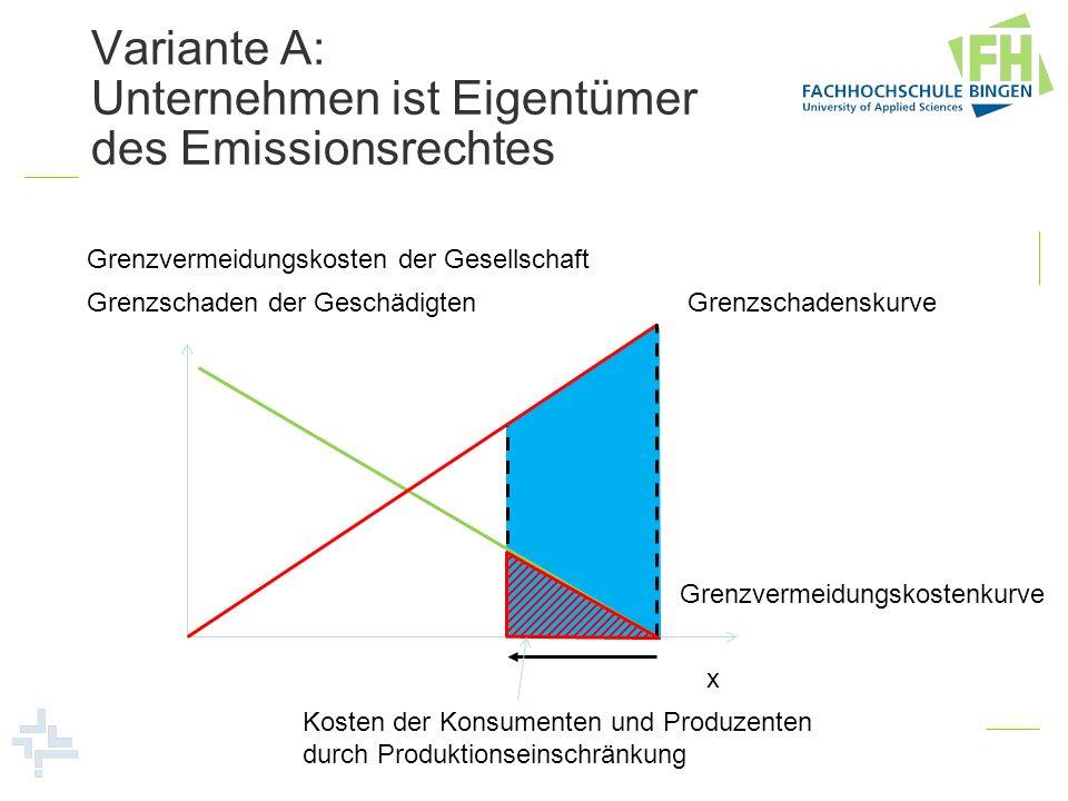 Variante A: Unternehmen ist Eigentümer des Emissionsrechtes