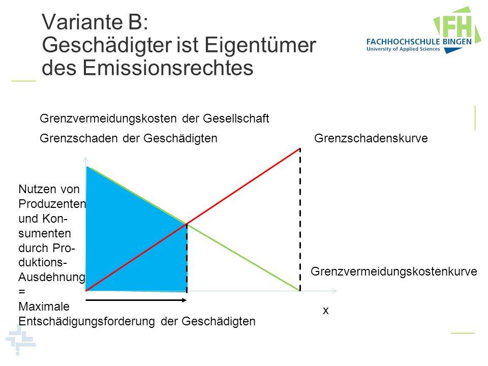 Variante B: Geschädigter ist Eigentümer des Emissionsrechtes