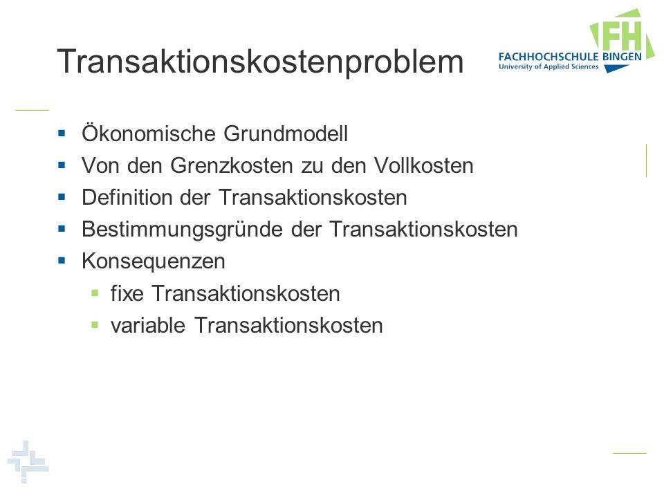 Transaktionskostenproblem