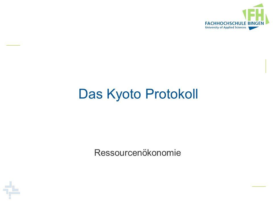 Das Kyoto Protokoll Ressourcenökonomie
