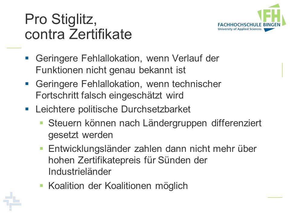 Pro Stiglitz, contra Zertifikate