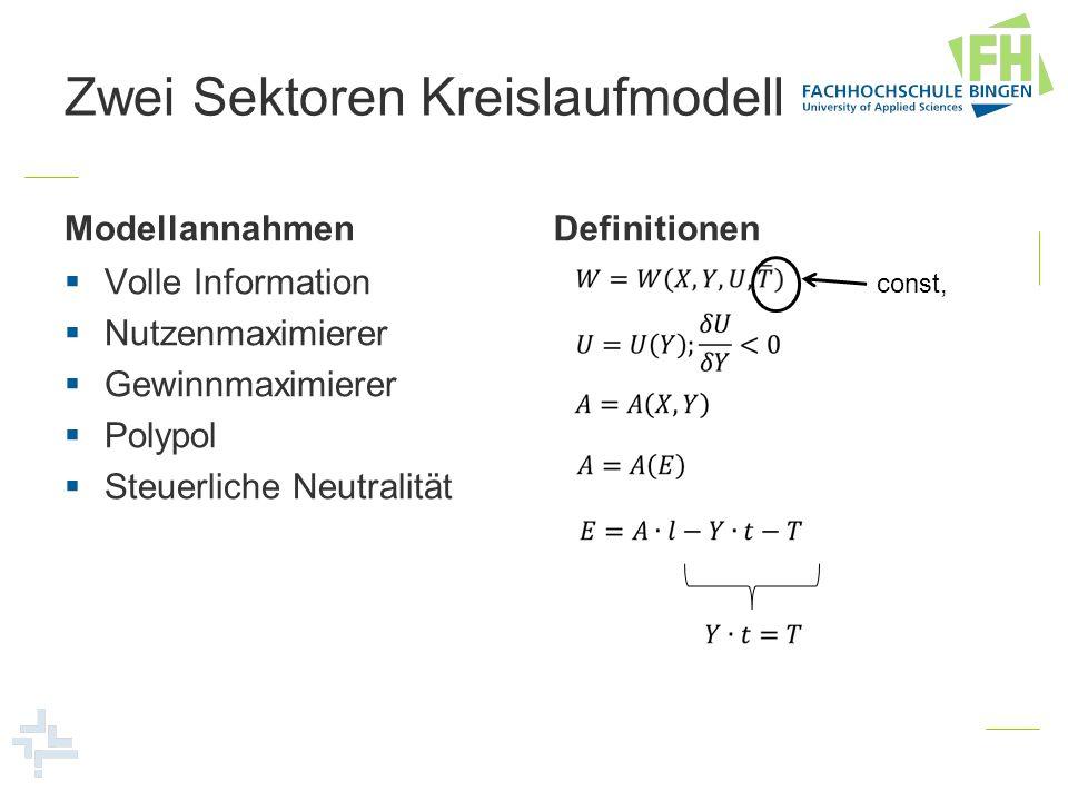 Zwei Sektoren Kreislaufmodell
