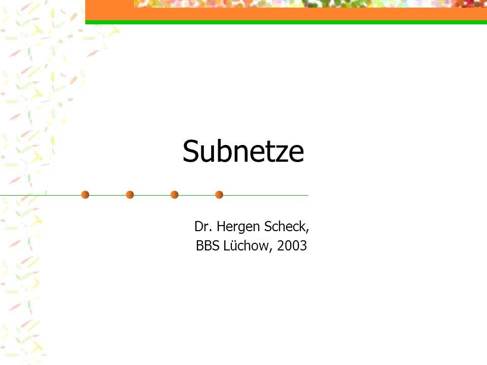 Dr. Hergen Scheck, BBS Lüchow, 2003