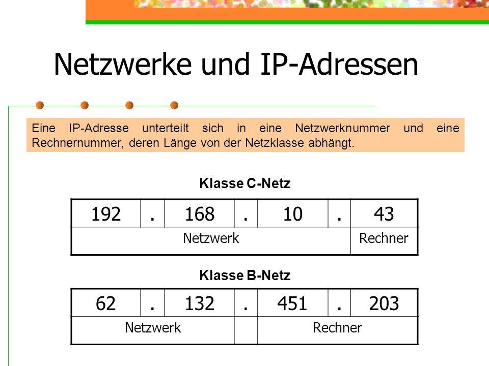Netzwerke und IP-Adressen