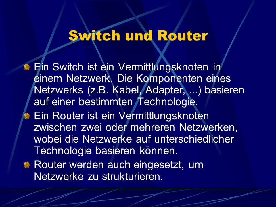 Switch und Router