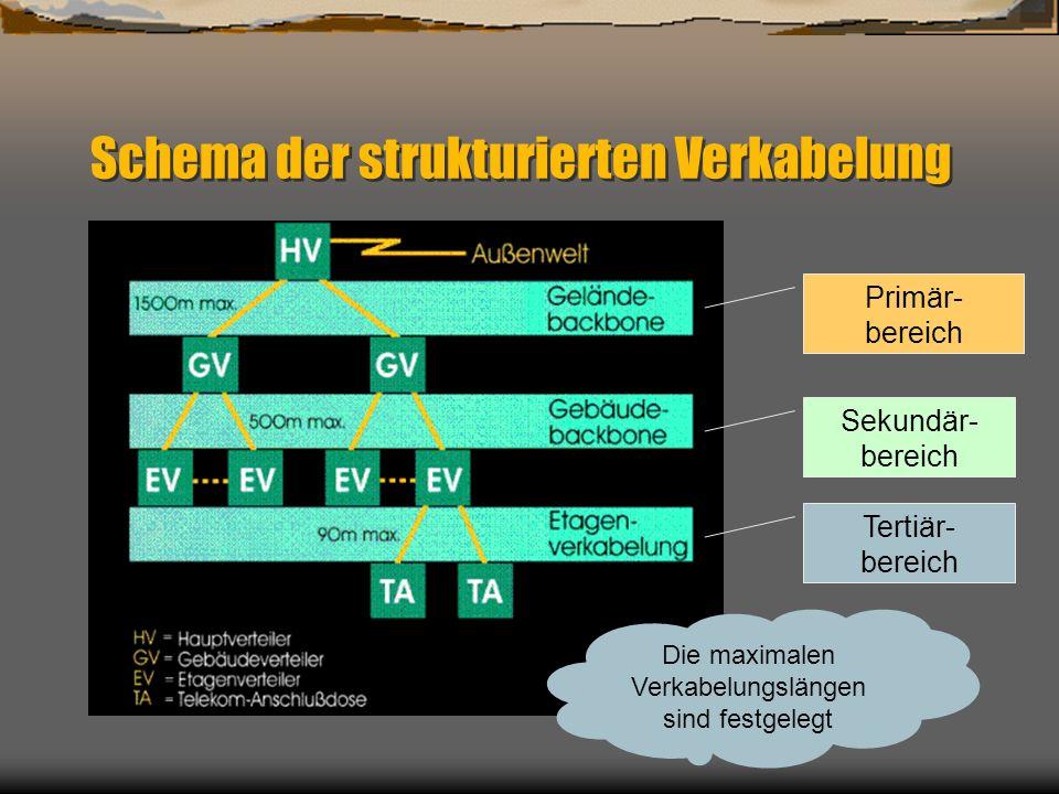 Schema der strukturierten Verkabelung