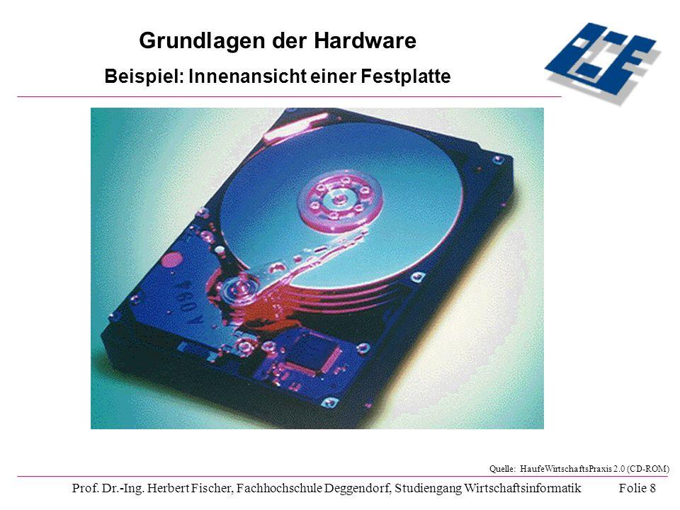 Grundlagen der Hardware Beispiel: Innenansicht einer Festplatte