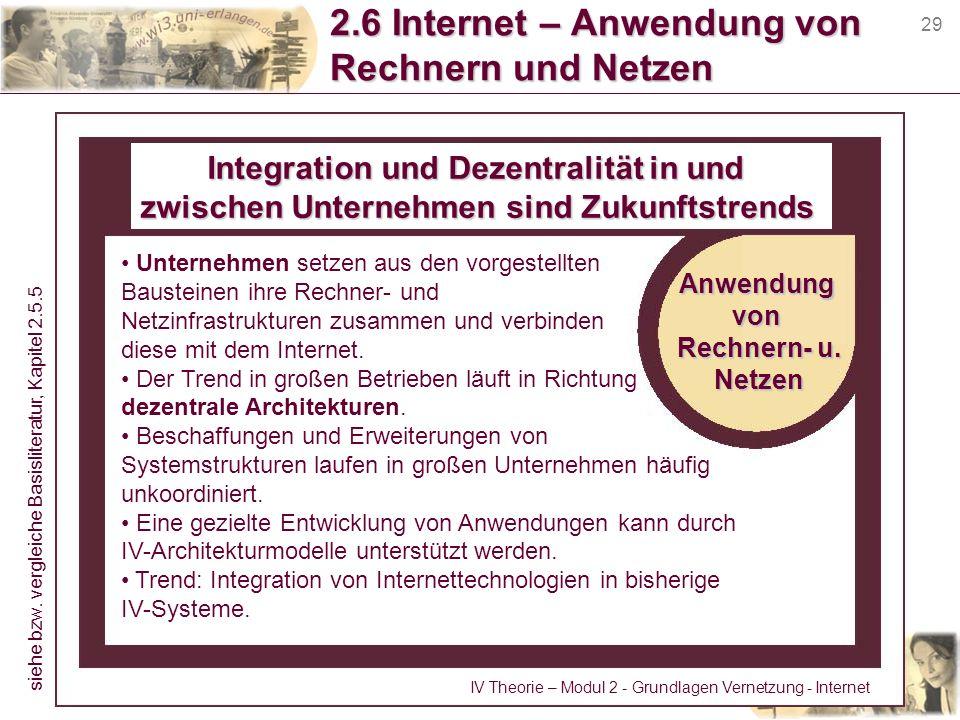 2.6 Internet – Anwendung von Rechnern und Netzen